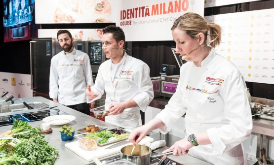 Davide Franco, Antonio Acquaviva and Clare Smyth
