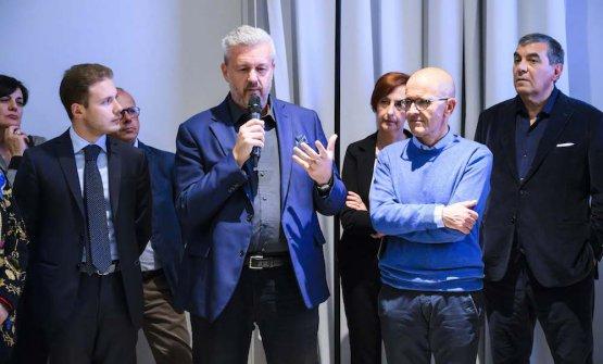Paolo Colombo al microfono