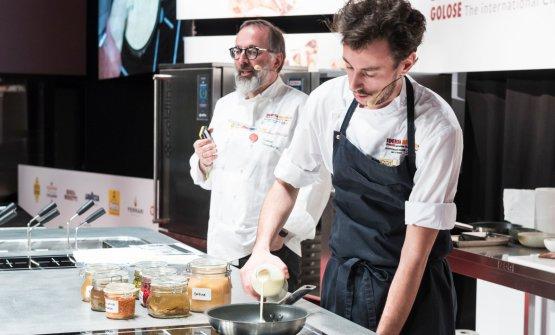 Con Niederkofler sul palco il suo bravo sous chef, Michele Lazzerini