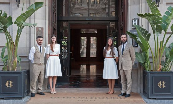 L'ingresso del Cotton House Hotel