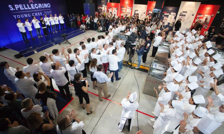 Gli chef in gara durante la fase finale della prima edizione