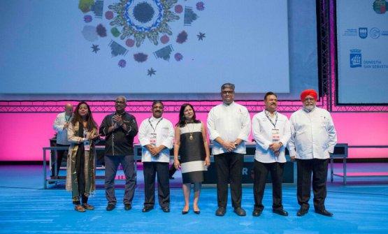 Parte della delegazione indiana a Gastronomika