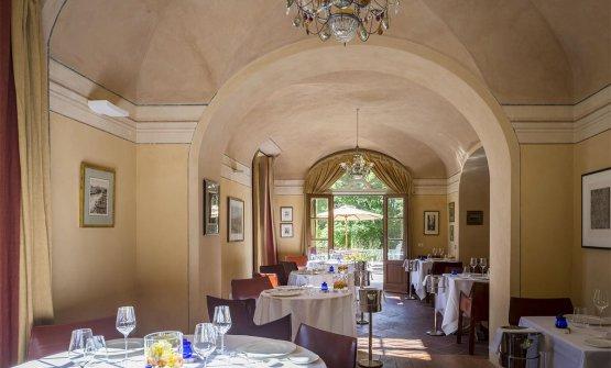 La sala di Villa Pignano, a Volterra (Pisa)