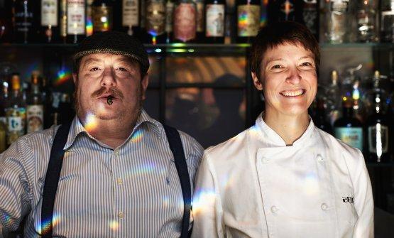 La chef col patron Sergio Sbizzera(foto di Marco Waldis)
