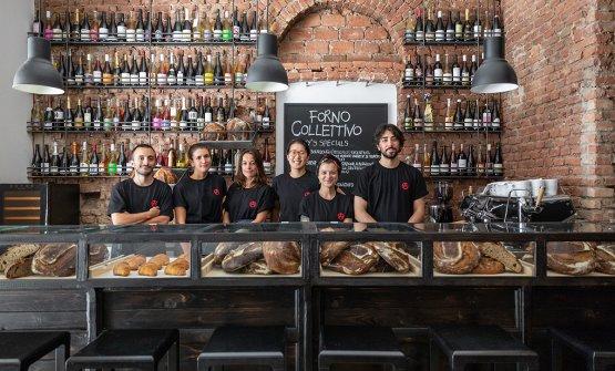 Il team di Forno Collettivo: da sinistra Simone Bo