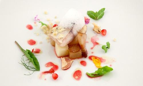 Blue, pork and fruit, the savoury dish by Simone N