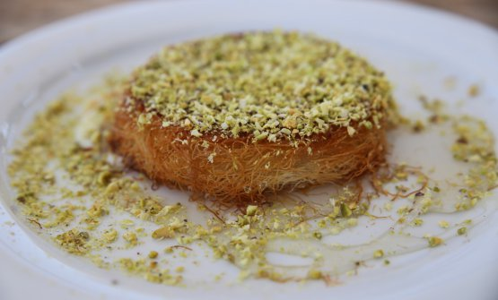 The delicious knafeh at Kornmehl Farm