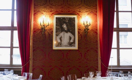 Un particolare della sala di palazzo Saluzzo Paesana