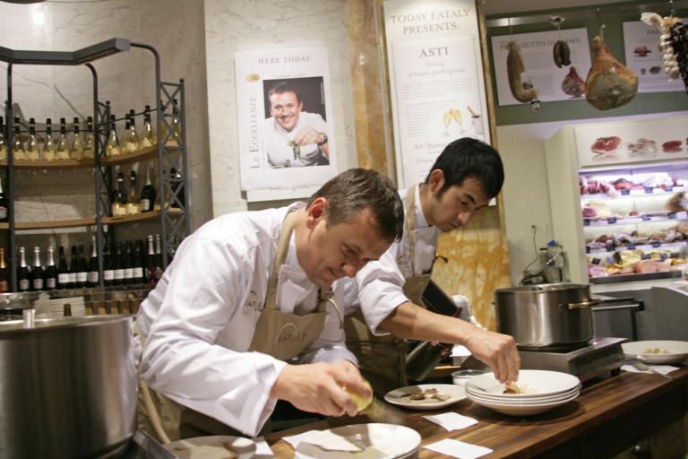 Emanuele Scarello e Tatsuya Iwasaki al Corner delle Eccellenze