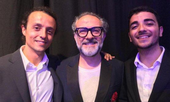 Prima della cerimonia, Filippo Uliassi, Massimo Bottura e Gian Marco Vecchi