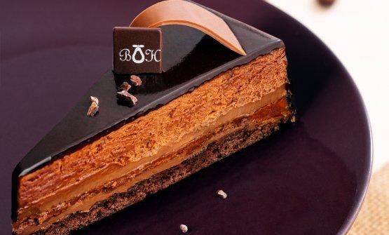 Torta al cioccolato della pasticceria Belle Hélè