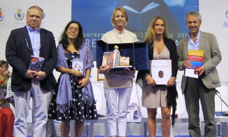 Da sinistra, i cinque finalisti del Bancarella del
