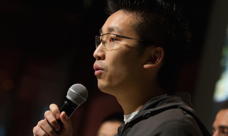 Claudio Liu, Italian-Chinese patron at restaurant