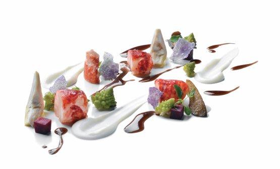 L'astice del ristoranteLa Torre del Castello del NerodiTavarnelle Val di Pesa (Firenze), una stella Michelin