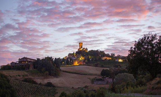 Un'immagine suggestiva del Castello di Cigogno
