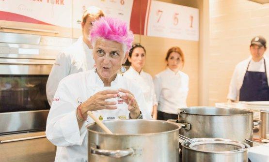 Cristina Bowerman, ieri per la prima volta alla Scuola di Eataly Flatiron, New York (foto Brambilla/Serrani)