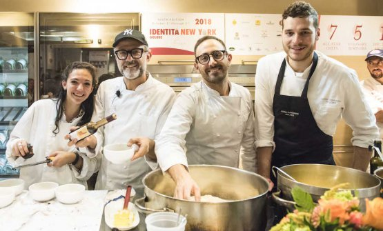 The team from Osteria Francescana opened the Di