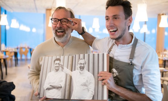 Norbert Niederkofler and Michele Lazzarini, chef