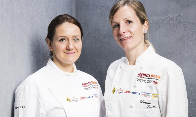 Loretta Fanella, a sinistra, con l'assistente Laura Boldi (foto Brambilla / Serrani)