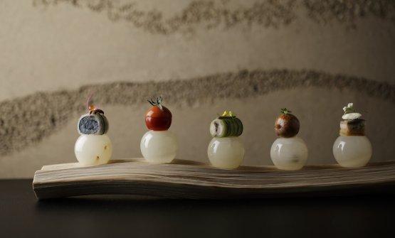 Cinque delizie giapponesi dello chefNoriyuki Ham