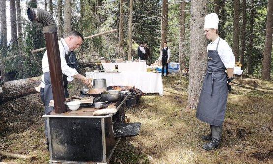 Theodor Falser, chef dellaJohannesstube, ristora