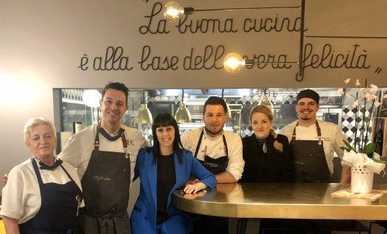 Il team del ristorante Atelierdell'hotel Eur