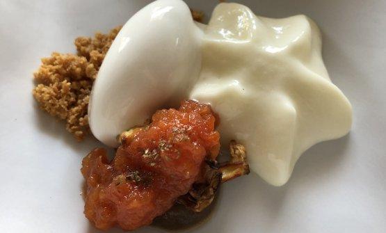 A portata di mano: melanzana caramellata con Grana Padano riserva caldo e freddo