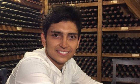 Juan Camilo Quintero, giovane colombiano al timone dell'Osteria Volpaiadi Radda in Chianti (Siena)