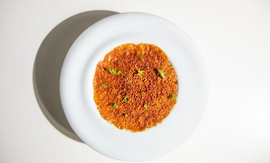 Un'altra declinazione dello stesso frutto di mare:Ortziadas patate e pecorino(foto AromiCreativi)