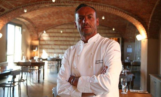 Paolo Viviani, classe 1967, chef diCascina Falettaa CasaleMonferrato (Alessandria), telefono+39.0142.670068 e +39.340.2943763