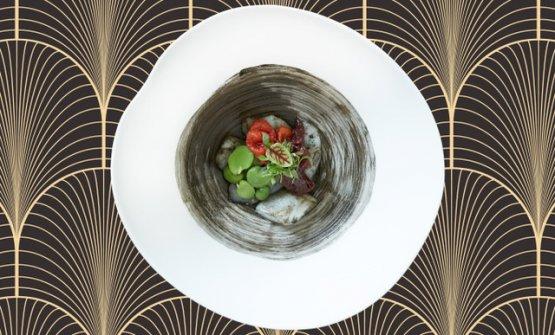 Seppia, fave e cipolla rossa, uno dei piatti che c