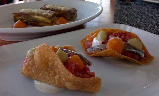 Tacos e parmigiana, uno dei piatti in carta aLa