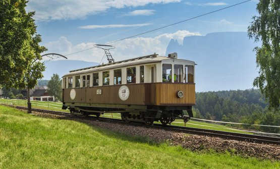 Il trenino del Renon storico (foto Tourismusverein