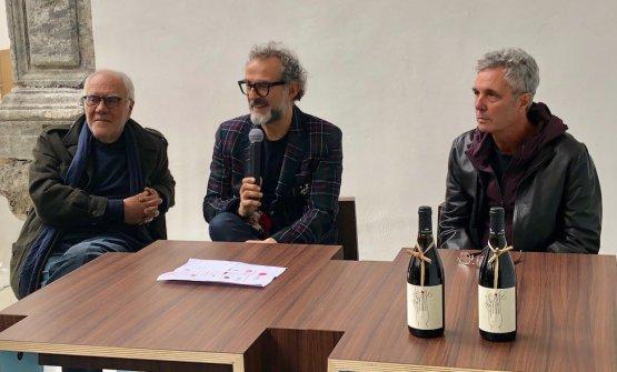 L'artista Mimmo Paladino, Massimo Bottura e Davide De Blasio di Made in Cloister