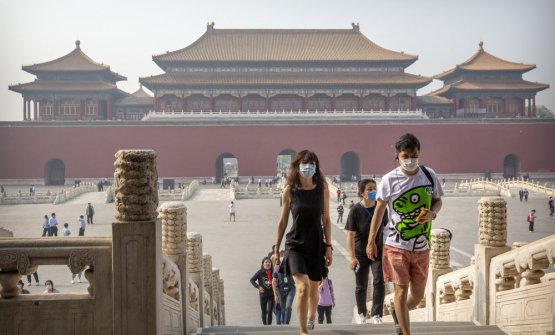 First of May, the reopening of the Forbidden City in Beijing, closed for over three months