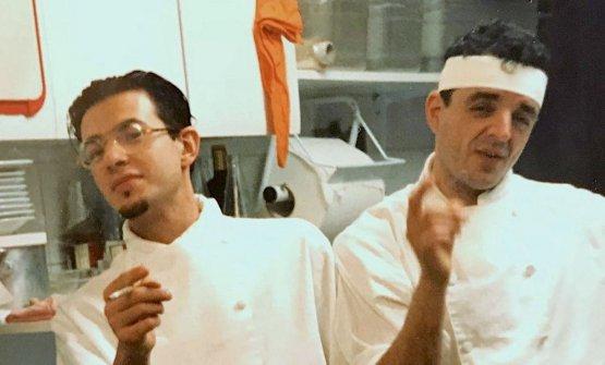 Mariano Faraoni e Mauro Uliassi, agli esordi