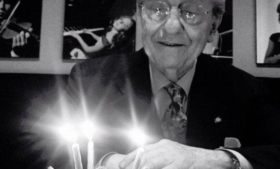 Marchesi ritratto in occasione del suo 86° compleanno, nel 2016