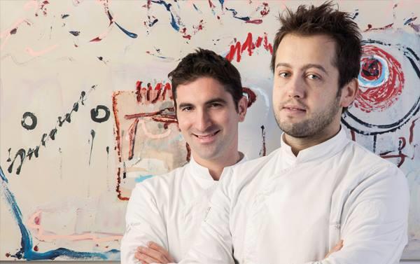 I due chef del Luogo di Aimo e Nadia: Fabio Pisani, a sinistra, e Alessandro Negrini