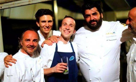 Rancati nel 2014 con Marco Sacco, Paolo Griffa e Antonino Cannavacciuolo
