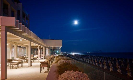 Il Fogliano di notte vista mare