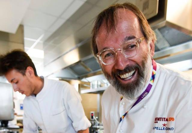 Norbert Niederkofler nella cucina di Identità Expo, qualche mese fa
