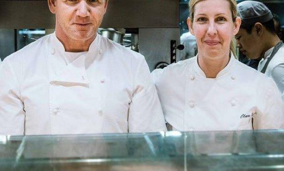 Lo chef con Clare Smyth