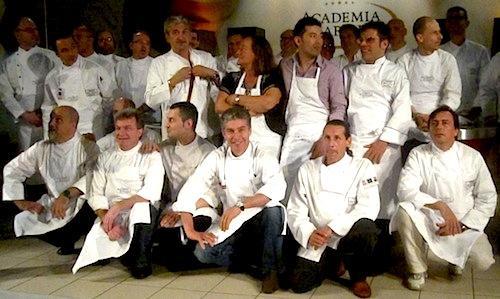Foto di gruppo all'Academia Barilla di Parma per 2