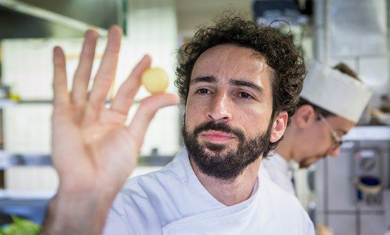 Franco Aliberti è chef con Gianni Tarabini de La PreséfaLa Fiorida, a Mantello, in provincia di Sondrio