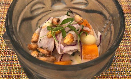 Il ceviche di Diego Oka, talento peruviano in sella da 4 anni al ristoranteLa Mar by Gaston Acurio del Mandarin Oriental Hotel diMiami, in Florida