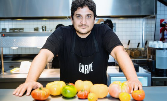 At CARNE they use as many as 25 varieties of tomatoes, in the name of flavour and of the preservation of biodiversity