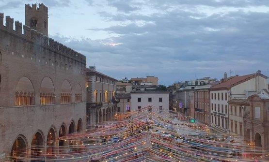 Piazza Cavour durante Al Mèni 2020
