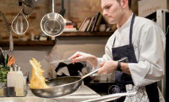 Daniele D'Alberto, chef at Borgo Fonte Scurain Silvi, Teramo and recently at Dorsiain Pescara too