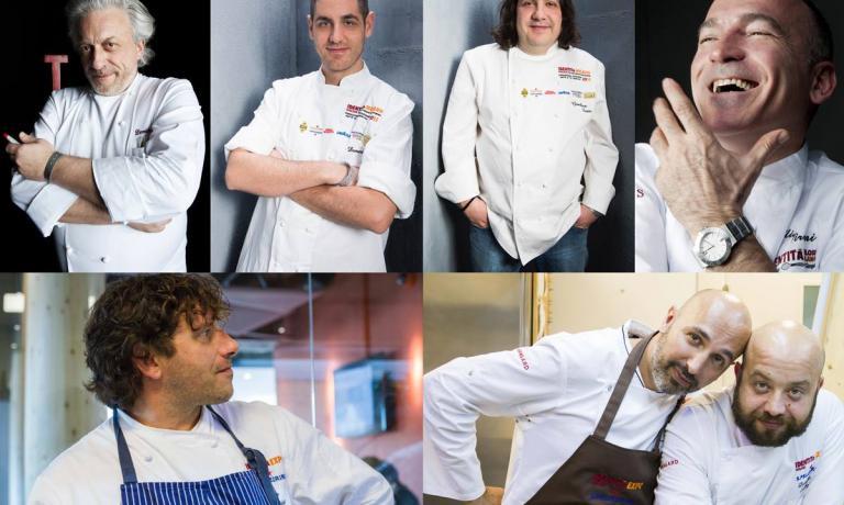 Gli chef che saranno impegnati nei cinque pranzi d