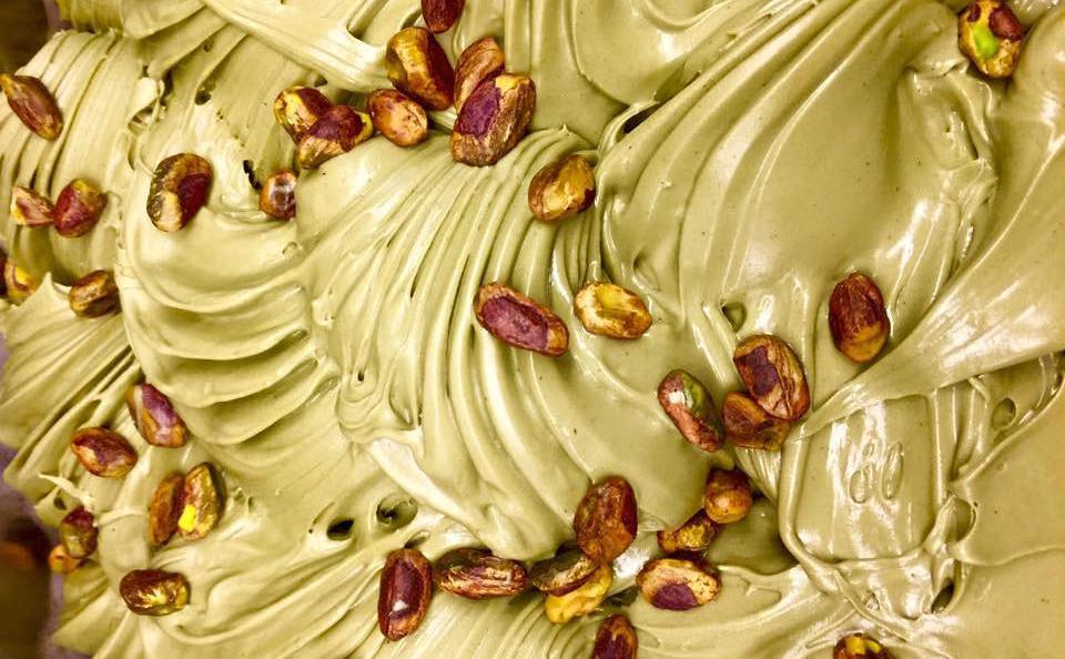 Il gelato al pistacchio salato della Gelateria della Musica, la passione di Viviana